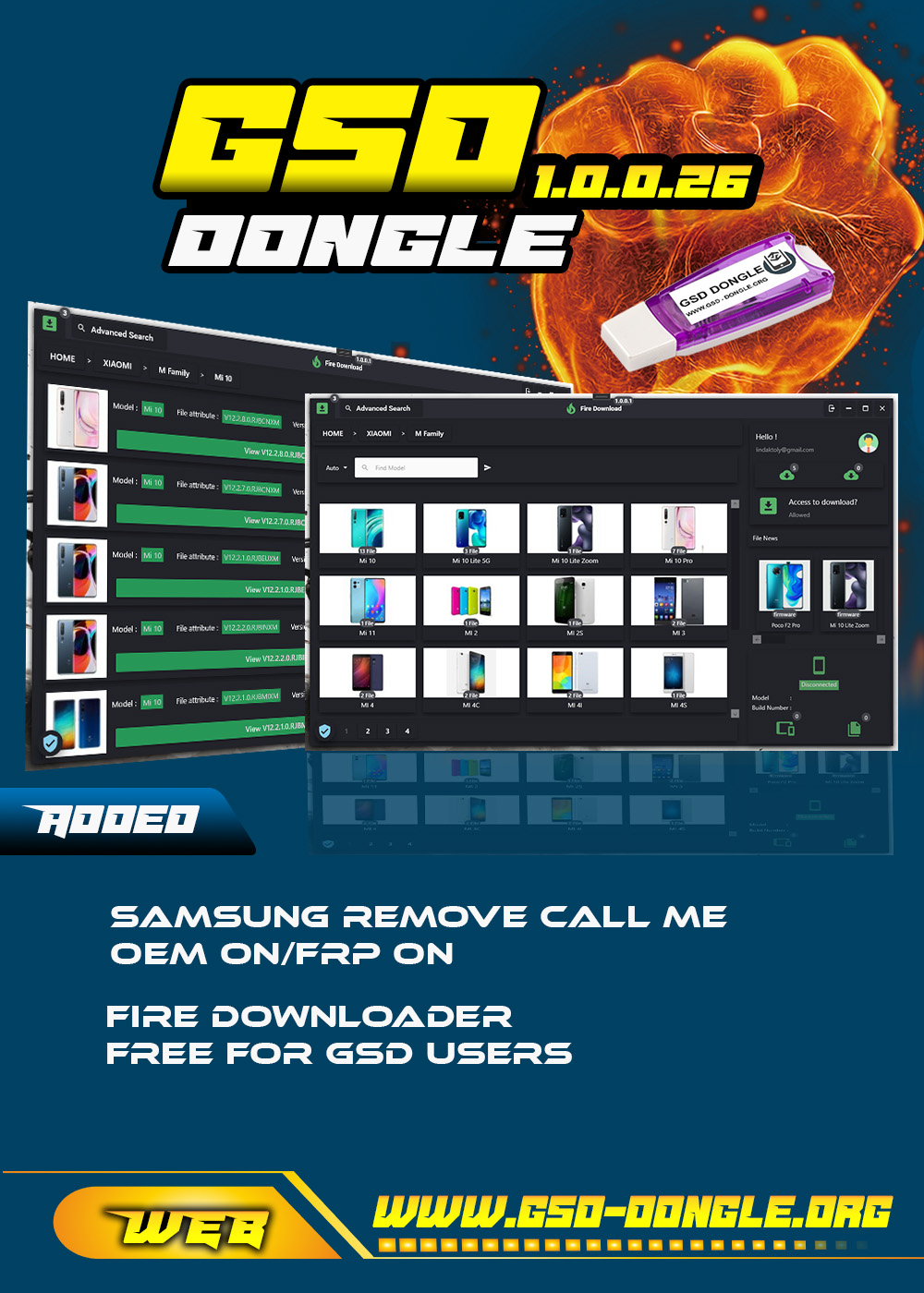 ★★★ GSD Dongle 1.0.0.26 Released ★★★[Feel The Power] Fire Download Module , etc ...